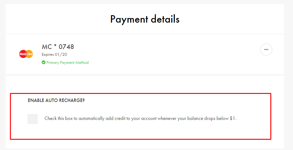 Payment Help